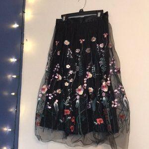 H&M Midi Floral Skirt